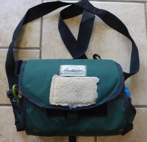 CREEK CO. FLY FISHING CHEST BAG WITH 70 TROUT FLIES MANY ORVIS, 2 FLY BOXES