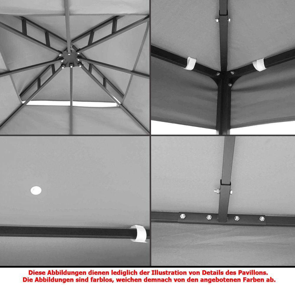 pavillon 08 wasserdicht 3x3 metall festzelt wasserfest ersatzdach pavillion neu eur 147 80. Black Bedroom Furniture Sets. Home Design Ideas