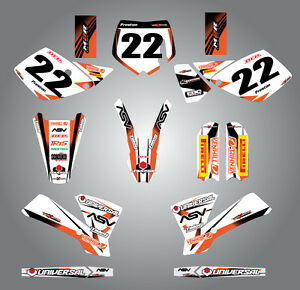 Full  Custom Graphic  Kit - STORM - KTM  65 -  2002 - 2008 stickers / decals