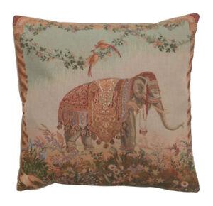 Elephant I French Decorative Tapestry Cushion