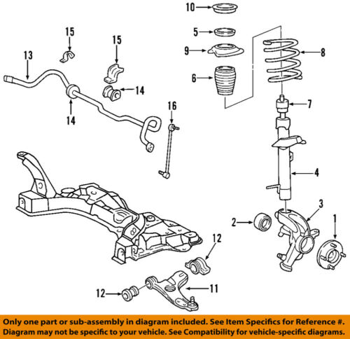 Steering Knuckle Repair Cost: FORD OEM 00-04 Focus Front-Steering Knuckle Spindle