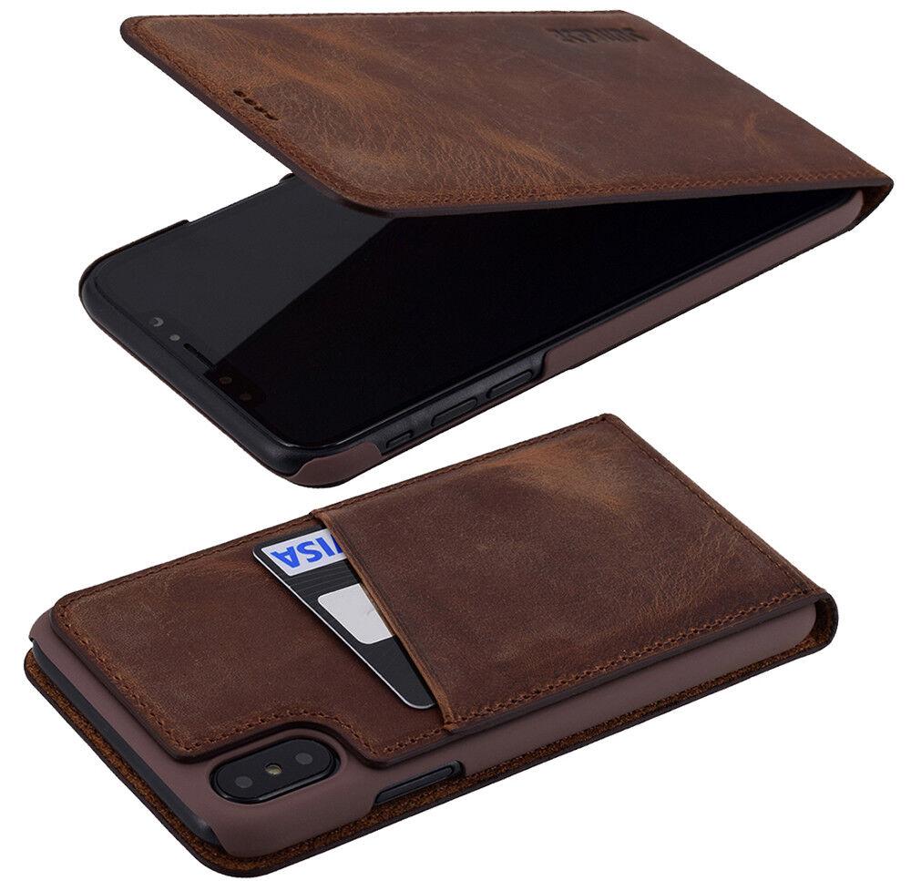 exclusive h lle echt leder flip tasche case cover f r. Black Bedroom Furniture Sets. Home Design Ideas