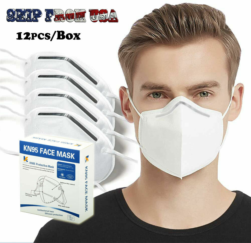 12 Pack KN95 Face Mask Mouth Cover PM2.5 Breathable 5-Layers Respirator K N95 Business & Industrial