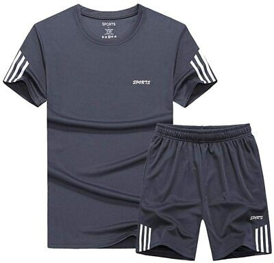 Lavnis Men's Casual Tracksuit T-Shirts and Shorts Running Jo