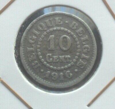 monnaie munt ALBERT Ier Belgique Belgie 10 cent 1916 sur 1915