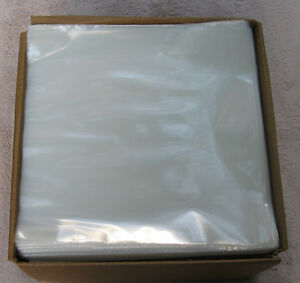 100 Clear 3MIL Poly Outer Sleeves Fit Single 12