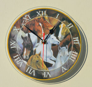 NIB Collectible Horse Themed Wall Clock