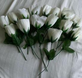Fake white flowers