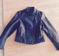 FMC ladies leather motorcycle jacket size small