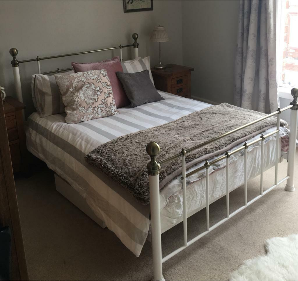 Lovely Antique Looking Next Double Bed Frame With Free Mattress If
