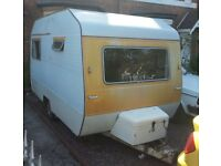 Seventies Vintage Classic: 1974 Sprite Alpine 4 berth Caravan. Original Condition. Awning. Fridge