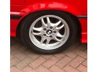 """BMW E36 3 Series coupe alloys 16"""" set of 5 with 225 50 16 tyres"""