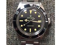 Vintage Rolex Submariner James Bond Steve McQueen 1950s 1960s