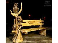 Hand made wood statue