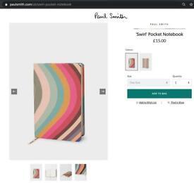 *** NEW Paul Smith - 'Swirl' Pocket Notebook