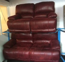 New/Ex Display Guvnor 3 Seater Electric Recliner Sofa + 2 Seater Recliner