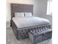 🔴 🔴🔵CLEARANCE SALE LUXURY DIVAN AND SLEIGH BEDS WITH MATTRESS FREE NEXT DAY DELIVERY 🔴🔵