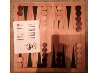 LAGOON GAMES BACKGAMMON WITH WOODEN BOARD & PIECES EX CONDITION