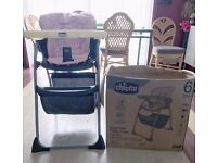 Chicco Happy Snack Highchair High chair baby boy girl