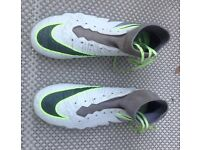 Nike Hypervenom Kids football sock boots. Size 5.5uk. White & neon green. Great condition.