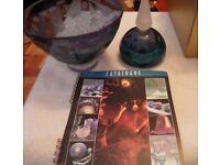 Adrian Sankey large glass bowl new& boxed (plus perfume bottle)