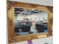 Brand New EDWARD Large Gold Mirror - ONLY £122.50! This mirror is Approx 90cm x 170cm