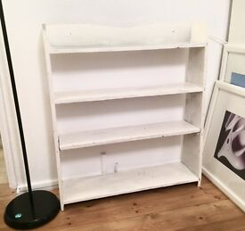 Shabby chic bookshelf / case... to refurbish or use as is!