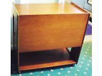FAB 1960/70S DANISH TEAK BAR / COCKTAIL TROLLEY.