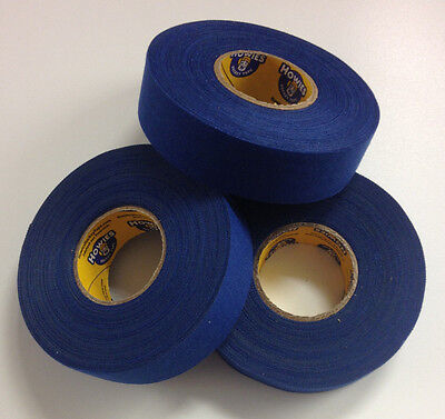 Royal Blue Howies Hockey Stick Tape - 1x27 Yards - 3 Rolls - Grip Tape
