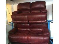 New/Ex Display Guvnor 3 Seater Recliner Sofa + 2 Seater Recliner