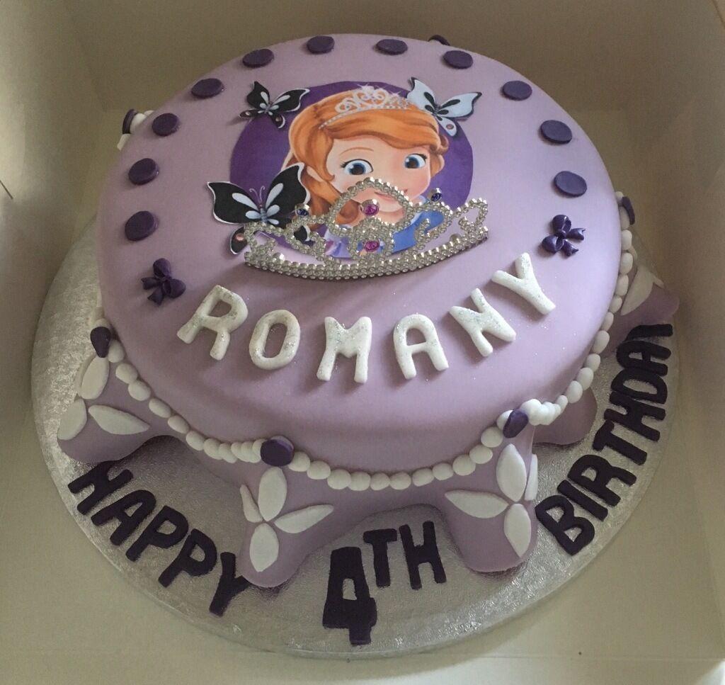 Sophia The First Frozen Disney Childrens Birthday Cakes