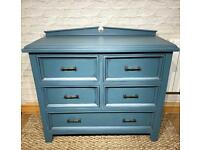 Large rustic chest of drawers