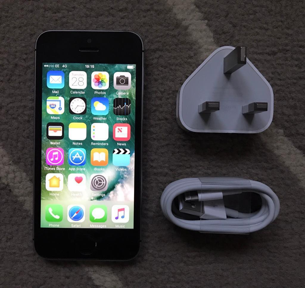 IPhone 5s 16gb great conditionin Beeston, NottinghamshireGumtree - IPhone 5s 16gb in grey and black great condition! fully working and comes with original apple plug and new apple cable, this iPhone 5s works on orange EE T Mobile virgin bt network and Asda mobile (not unlocked!) Ive wiped and removed all data and...