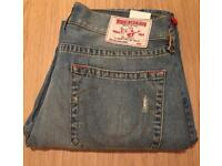 Brand new with tag. Authentic men's True Religion jeans. Straight leg. Waist 34. RRP £180