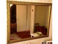 LUXURIOUS 1970'S RARE ANTIQUE DESIGN LARGE MIRROR - 4FT x 3FT - PERFECT CONDITION