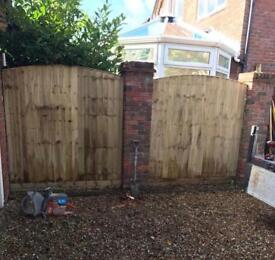 🍭New Arch Top Feather Edge Fence Panels