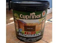 Cuprinol Ducksback 9 litre -Forrest Oak colour - garden fence paint