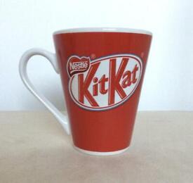 ❤️🍫Vintage Red KitKat Branded Ceramic Mug Advertisement Collectable