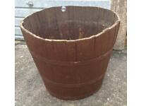 Large Barrel Garden Planter