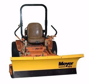 Brand New Meyer ZTR Mower Snow Plow - Meyer Path Pro Snowplows for ZTR Mowers!