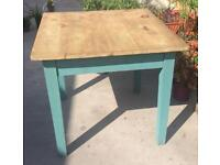Vintage Painted Wooden Dining table Shabby Chic