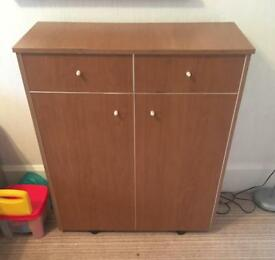Pull out single bed disguised as a cupboard!