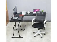 Corner desk and office chair