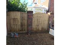🌹Arch Top Feather Edge New Fence Panels / Timber