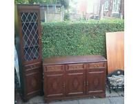 Matching sideboard and corner unit