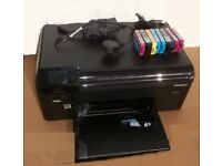 HP Photosmart B110 printer scanner. With Power Supply USB Lead and Spare Cartridges