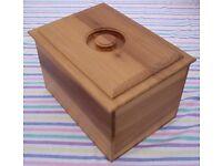 LOVELY BREAD BIN or BOX - WOODEN TULIPWOOD