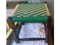 Vintage string stool
