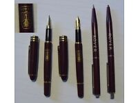 """Two pens with Rover Logo (Viking ship), 2 Biro Pens with """"Rover"""""""