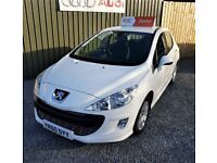 2010 PEUGEOT 308 1.6 HDI MILLESIM , WHITE, TWO OWNER CAR, TWO KEYS, *NOW SOLD*